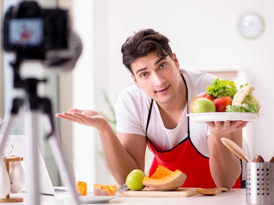 Фуд-съемка фруктов и овощей
