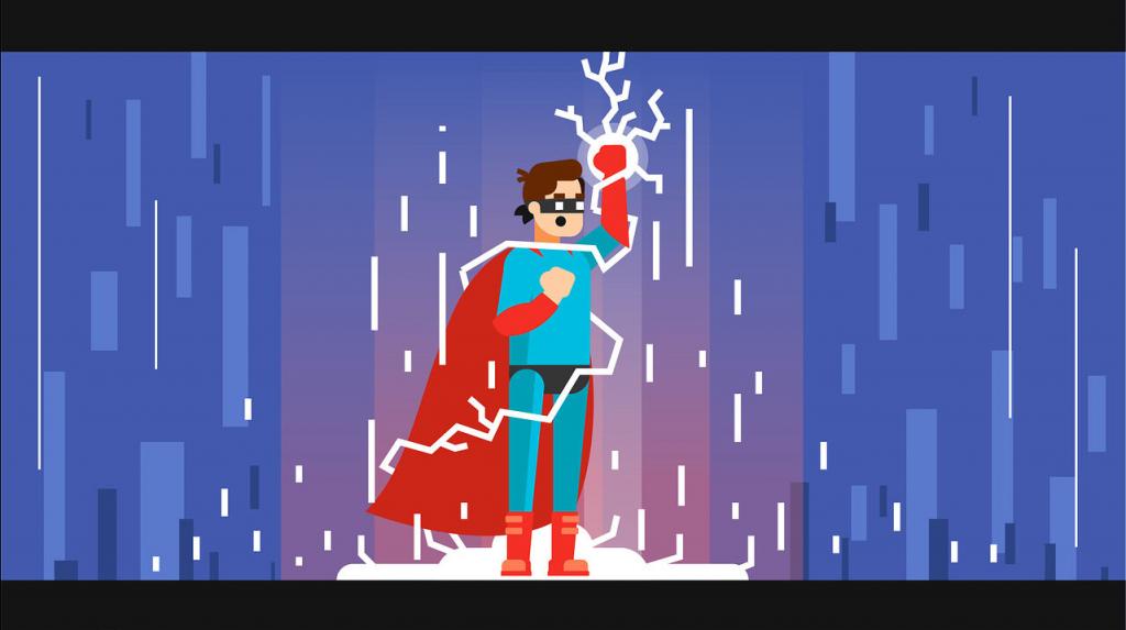 Анимационный ролик Штука Супергерой