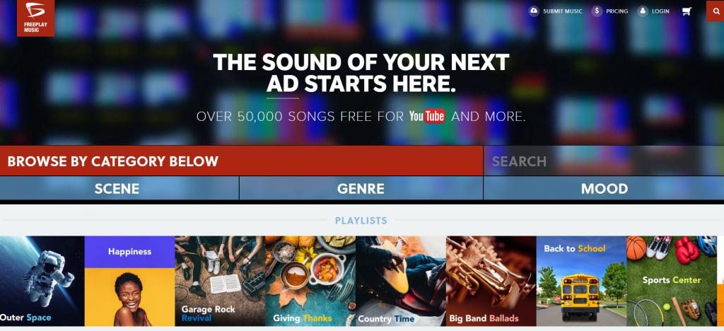 Бесплатная фоновая музыка на Freeplaymusic