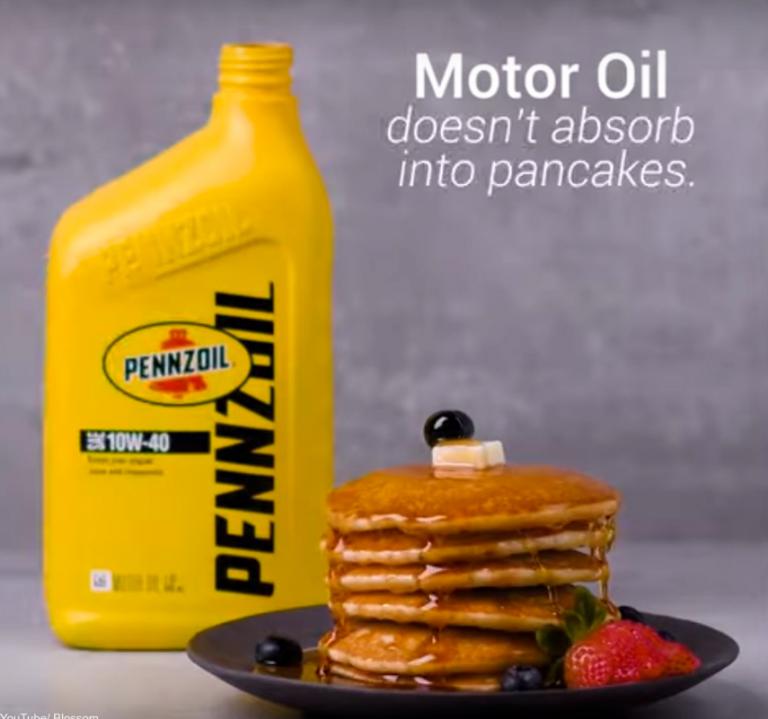 Моторное масло вместо меда на блинчиках