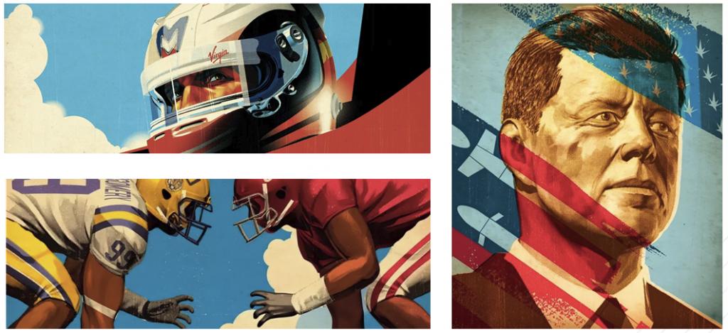 Комиксный стиль на американских плакатах
