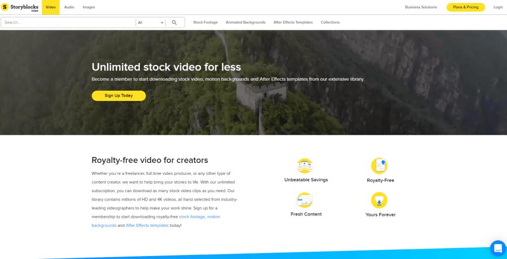 Видеосток Storyblocks