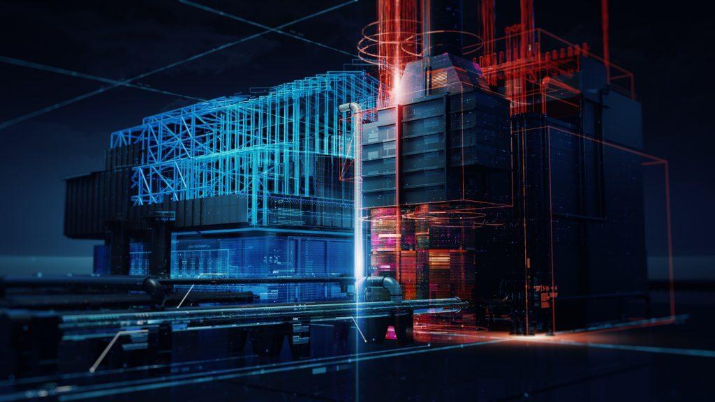 Техническая визуализация завода