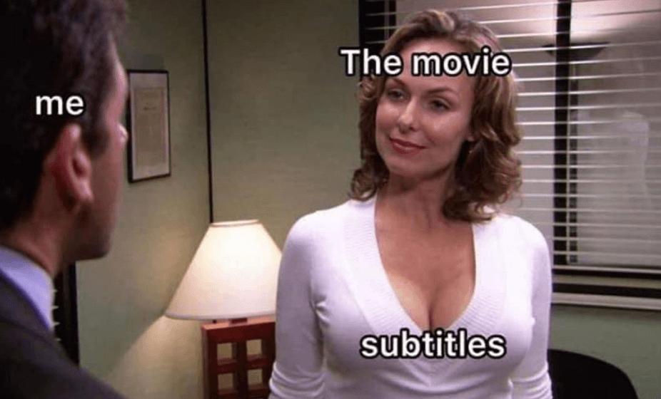 Я и субтитры фильма