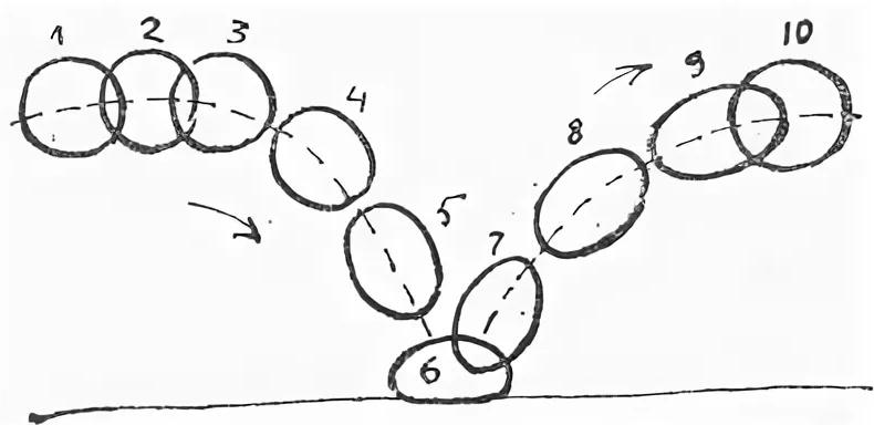На фото – прыгающий мячик из 10 рисунков (кадров)