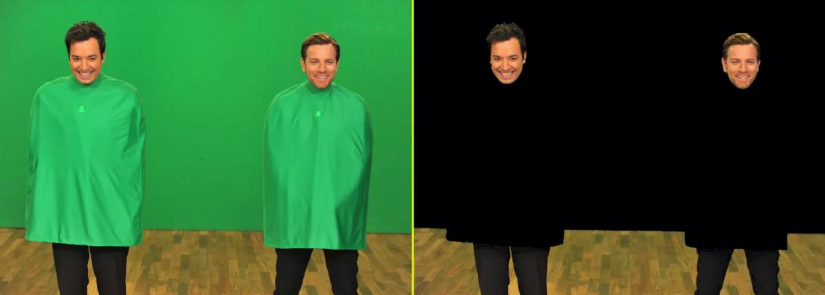 Что будет если надеть на себя зеленый фон