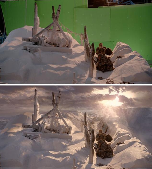 И еще один фрагмент из фильма - процесс съемок на зеленку