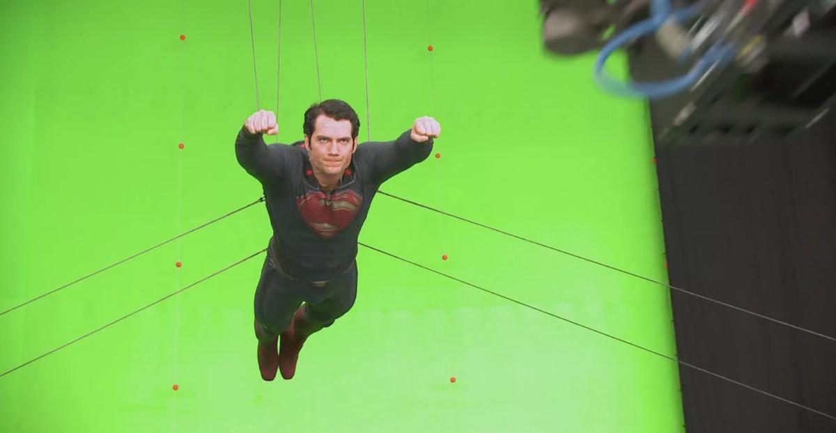 Супермена теперь снимают на зеленке
