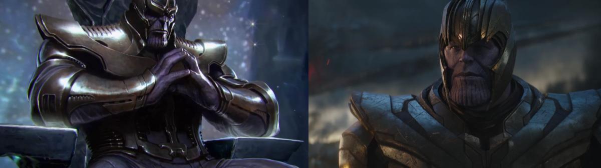 Танос 2Д и 3Д