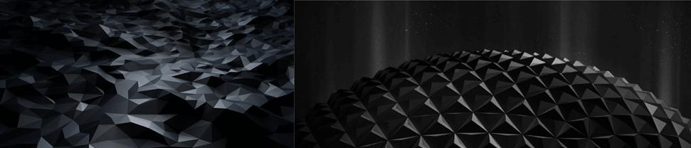 Мудборд с черными полигонами для СИБУРа