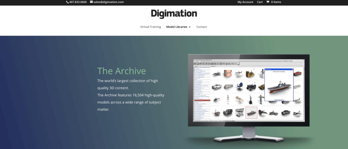 Скрин с главной Digimation
