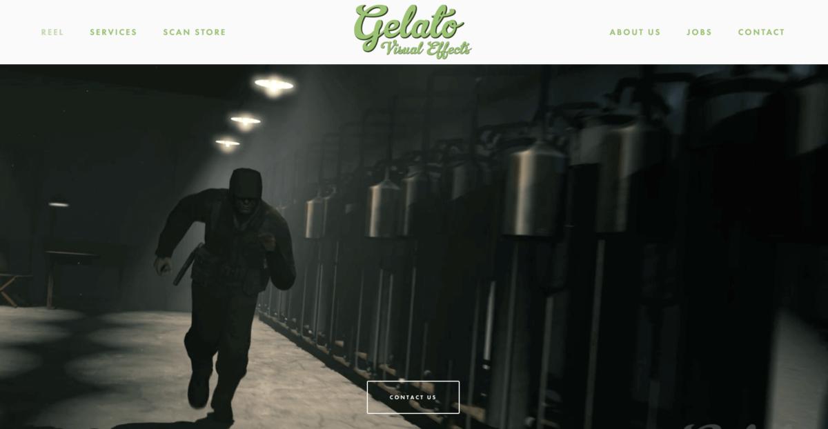 Скрин с главной Gelato VFX