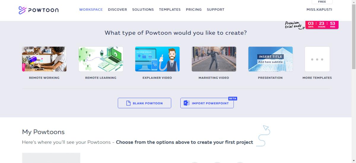 Программа Powtoon для создания видео презентаций